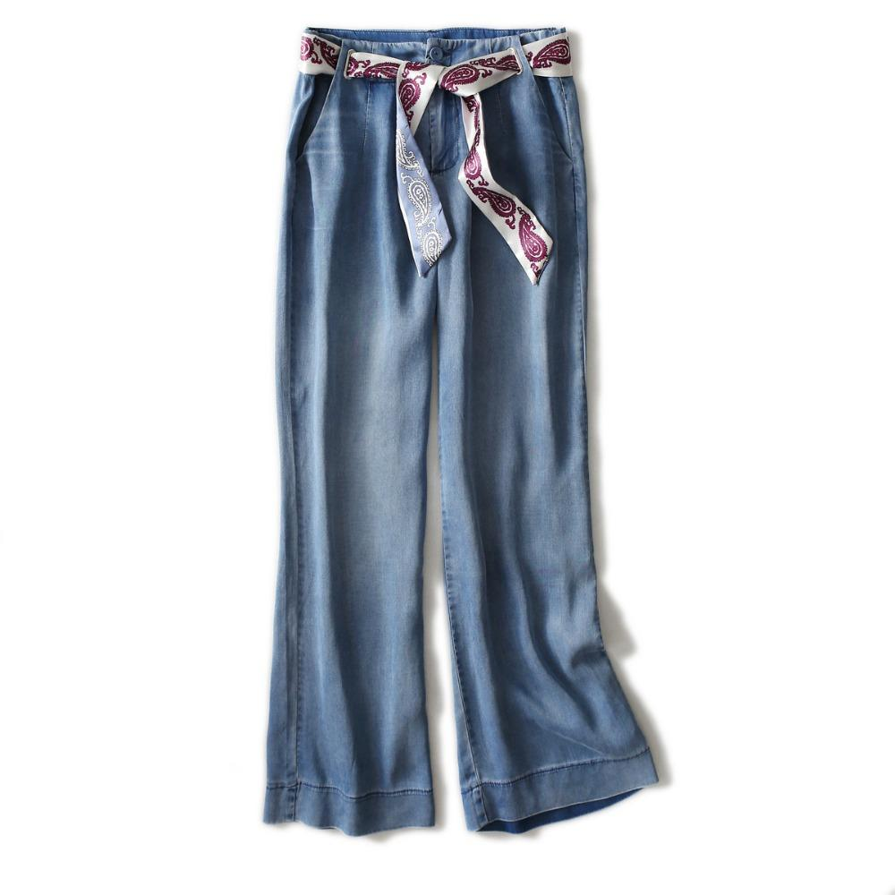 look out for 100% high quality sells Lace Up Bow Jeans Denim Pantalons Femmes Mode Cheville Longueur Pantalon  Large Jeans En Vrac S-2XL