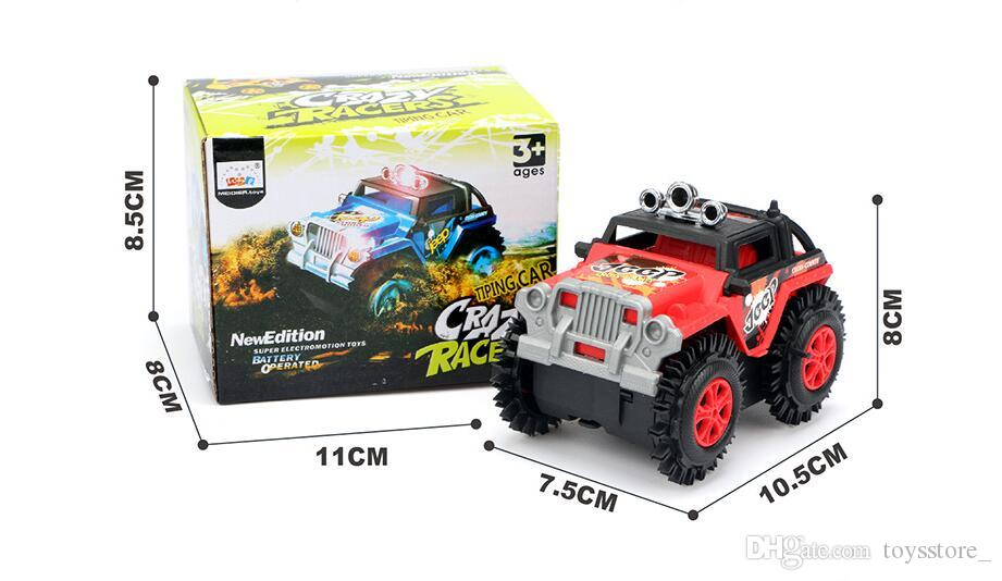 Elektrische Stunts Flip Spielzeugauto Neue Kinder Cartoon Puzzle Spielzeug Kipper 3-6 Jahre Altes Automodell