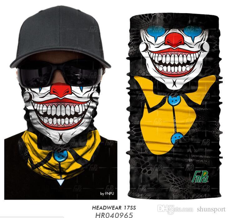 Haute Qualité Halloween Crâne Masque Multi Fonction Ski Moto Biker Écharpe Sport Masques DHL Livraison gratuite
