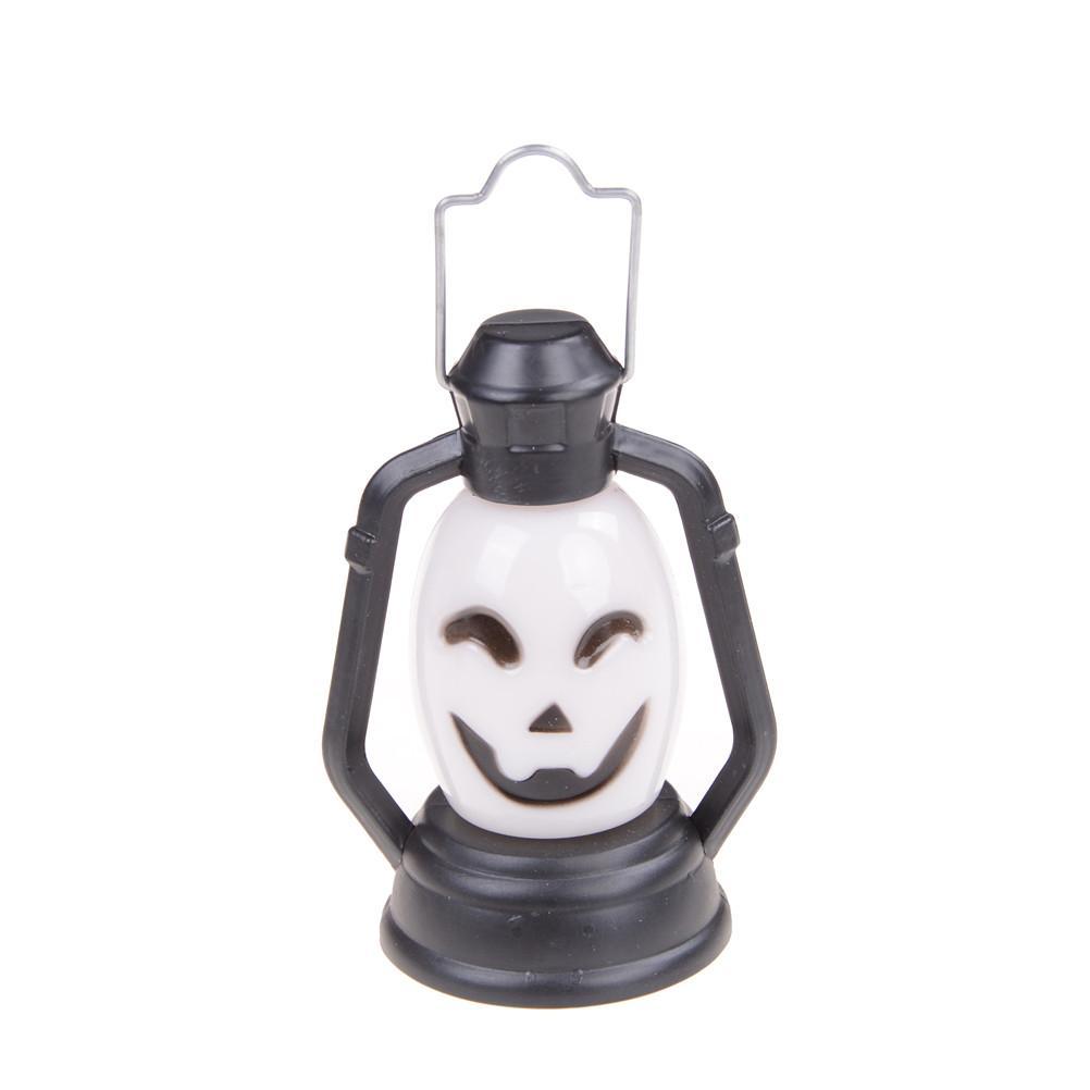 Halloween Lanterna portatile Zucca Luce notturna Teschio strega fantasma colorato appeso lampada a LED Accessori del partito Decorazione