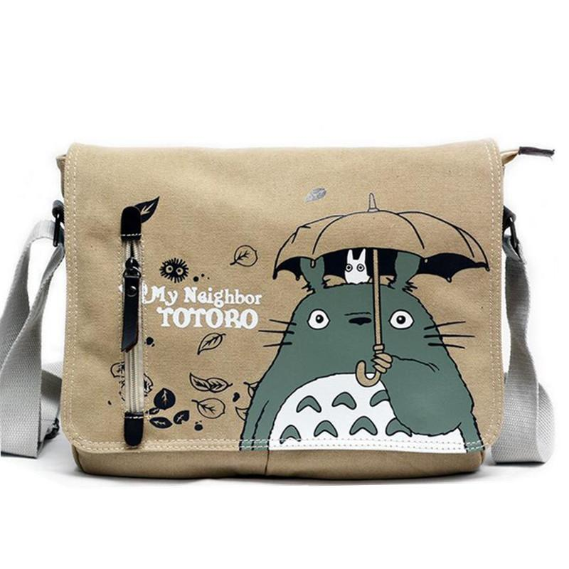 Japanese Anime Totoro School Bags For Children Canvas Shoulder Bag For  Travel Boys Girls Cartoon Messenger Cross Body Bag Toddler Backpack  Backpacks For ... cd5c7ad0d7e52