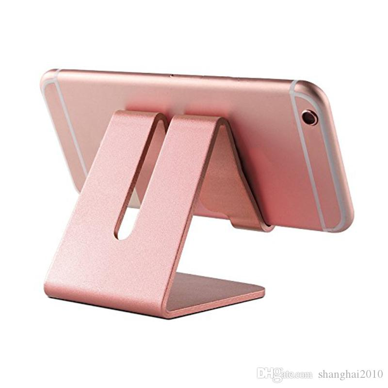 Universal Aluminum Metal Mobile Phone Tablet Holder Desk Stand for iPhone 7 Plus Samsung s8 plus ZTE Max XL with Retail package