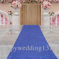 Sequin Wedding Aisle Runner For Outdoors 40ftx4ft Personalized Aisle Runner Wedding Ceremony Decoration Party Decoration Supplies Royalblue