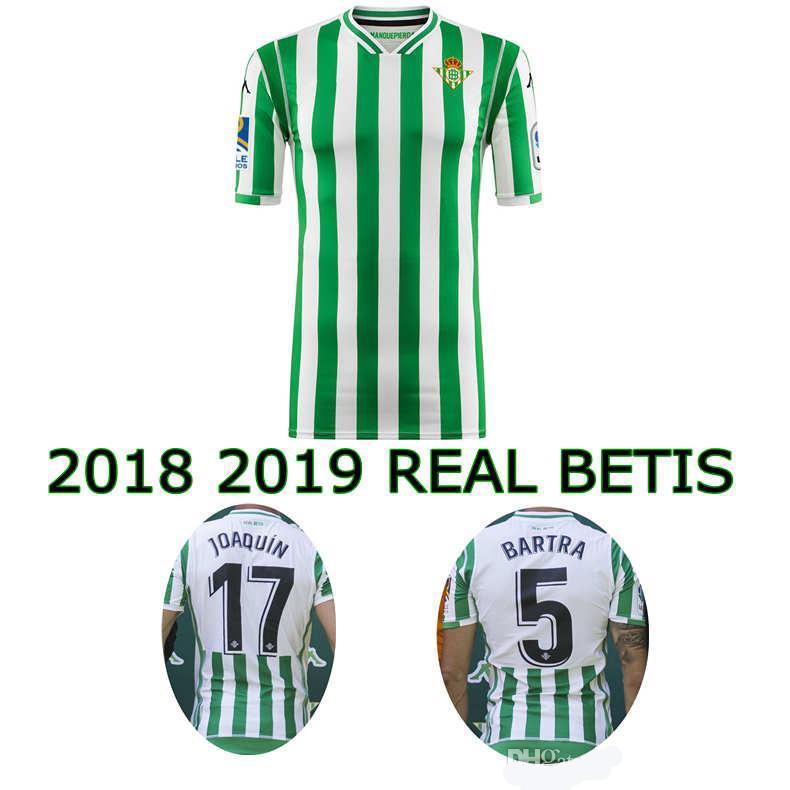 18 19 REAL BETIS Fútbol Jersey 2018 2019 Casa De Calidad Tailandés Camisetas  De Fútbol Por Sport jerseys ad0885e8798fd