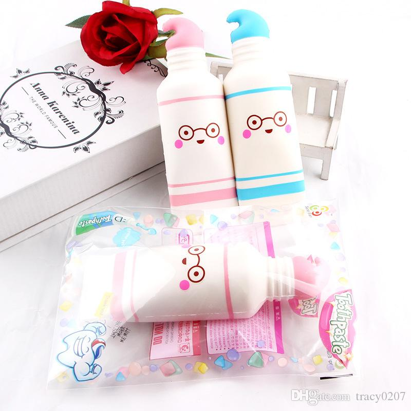 Kreativität Squishies spielt pu Karikaturzahnpasta Squishy Zuckerwatte verlangsamen Squishy, der mit Paketdruck-Spielzeugkindgeschenk steigt, parfümiert Freies Schiff