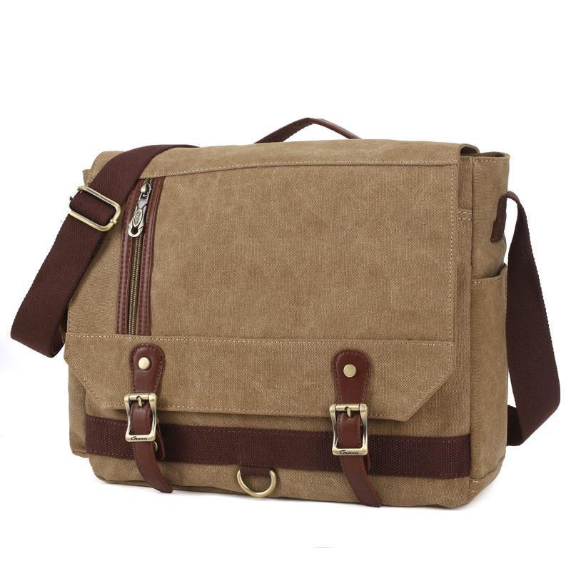 a7b5510004 Men Briefcases Crossbody Canvas Bags For College Girl Large Capacity Laptop  Bag Travel Bag Brown Rucksack Single Shoulder Aluminum Briefcase Filson  Original ...