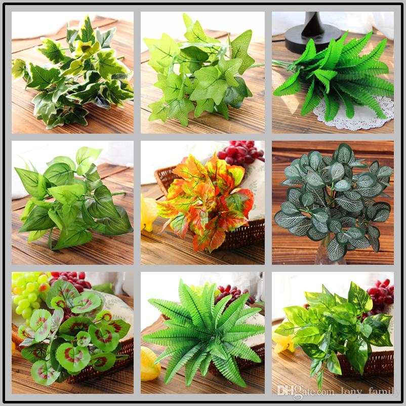 2019 Wedding Home Decor Artificial Plants Real Touch Fake Leaves 5 7