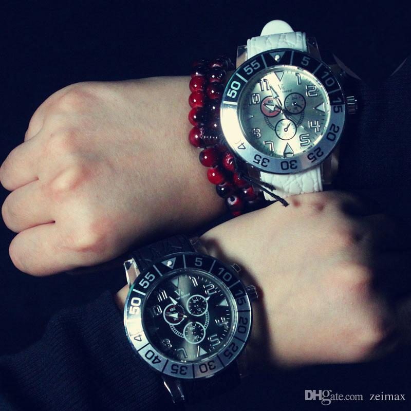 Fashion V6 LED watch Atmos Clock Unisex Silicone LED Watches Silicone Sport Military Quartz Wristwatches