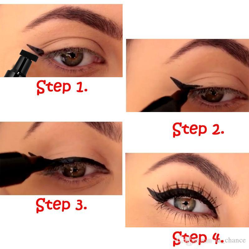 Dropshipping en stock Joint double tête HANDAIYAN Joint triangle pour eye-liner Eyeliner 2 et 1 EYELINER IMPERMÉABLE
