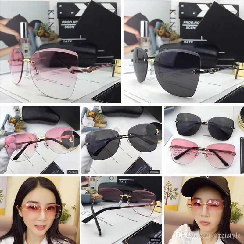 fd29486a35072 Wholesale 06866 Fashion Sunglass Women Brand Designer 06866 Big Round Face  UV400 Len Summer Style Adumbral Mixed Big Face With Case Vintage Sunglasses  Super ...