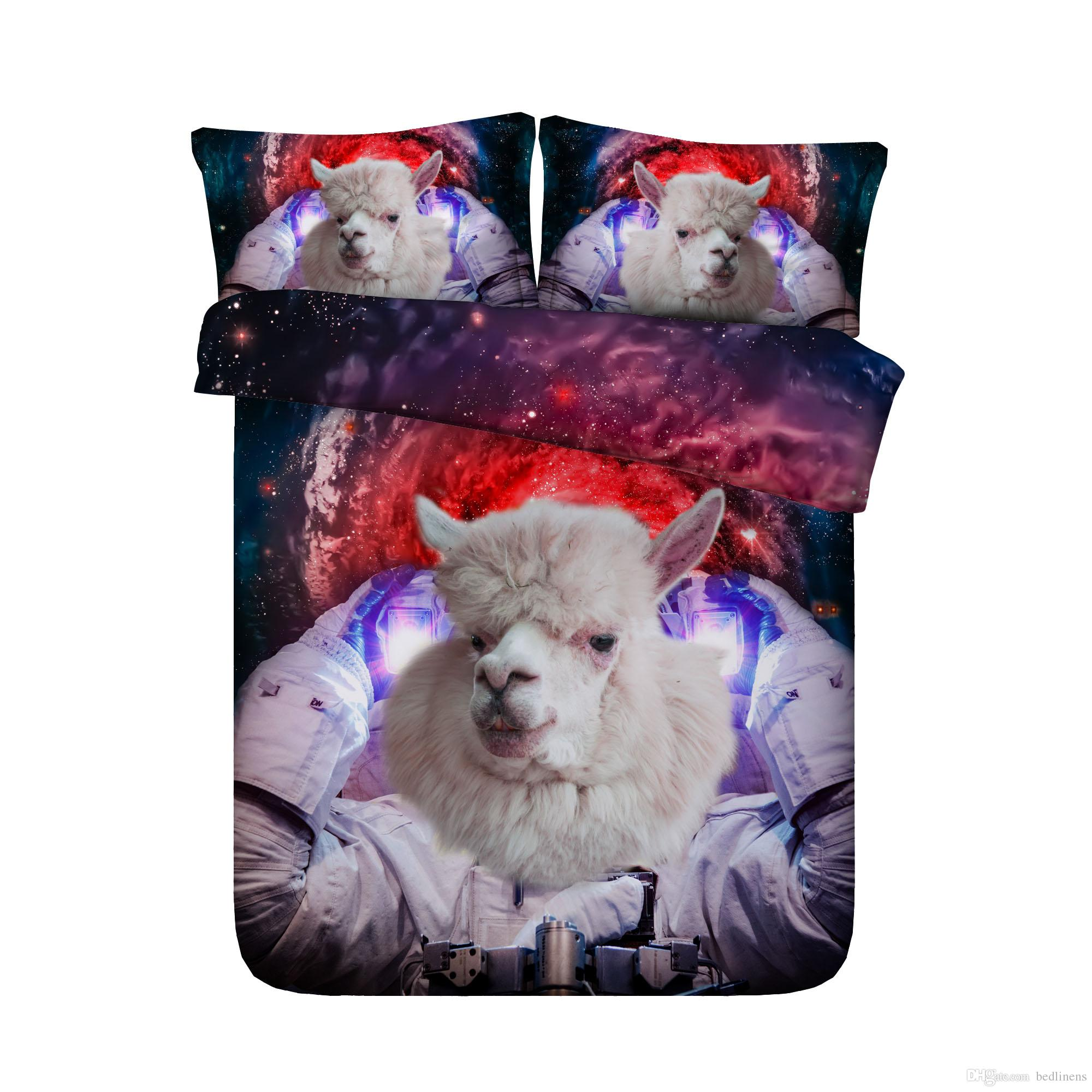 3D Printed Astronautical Sheep Bedding Set Twin Full Queen King Size Bedspread Bedclothes Duvet Covers Pillow Shams Comforter Set Animal