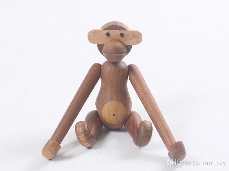 Decorazioni In Legno Per Bambini : Acquista danmark in legno appeso scimmia bambola figurine puzzle