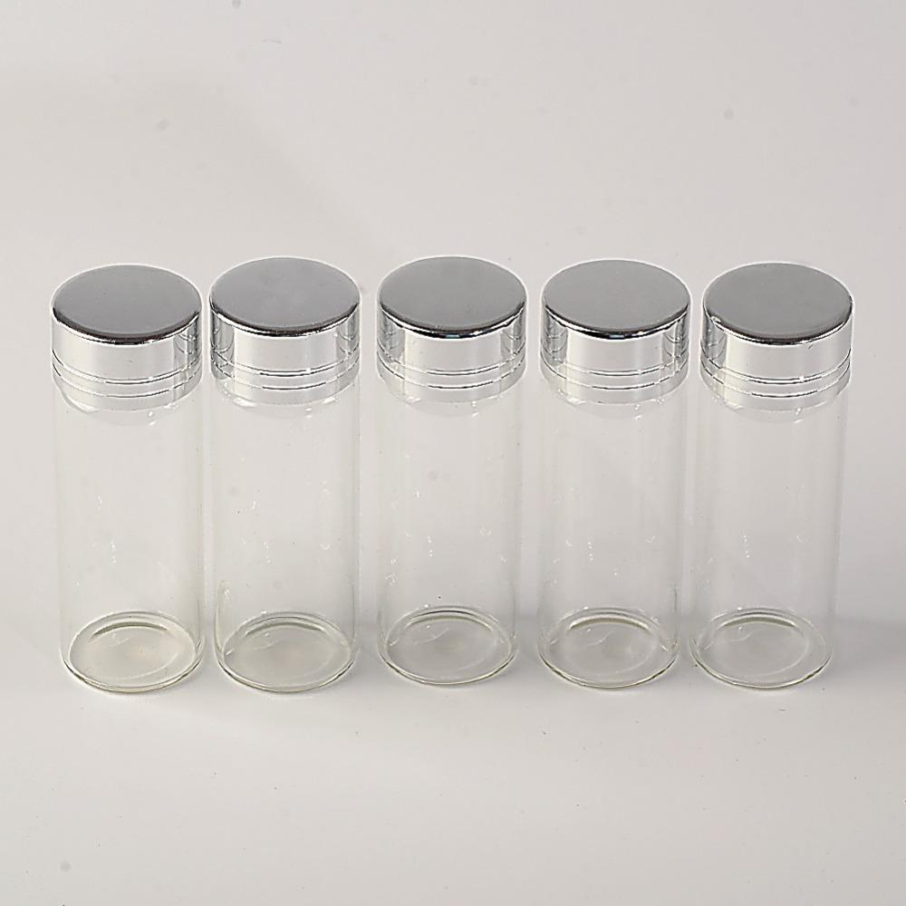 14ml Glass Bottles Screw Cap Silver Aluminium Lid Empty Glass Jars Vials Bottles Sealing up Skin Care Cream1