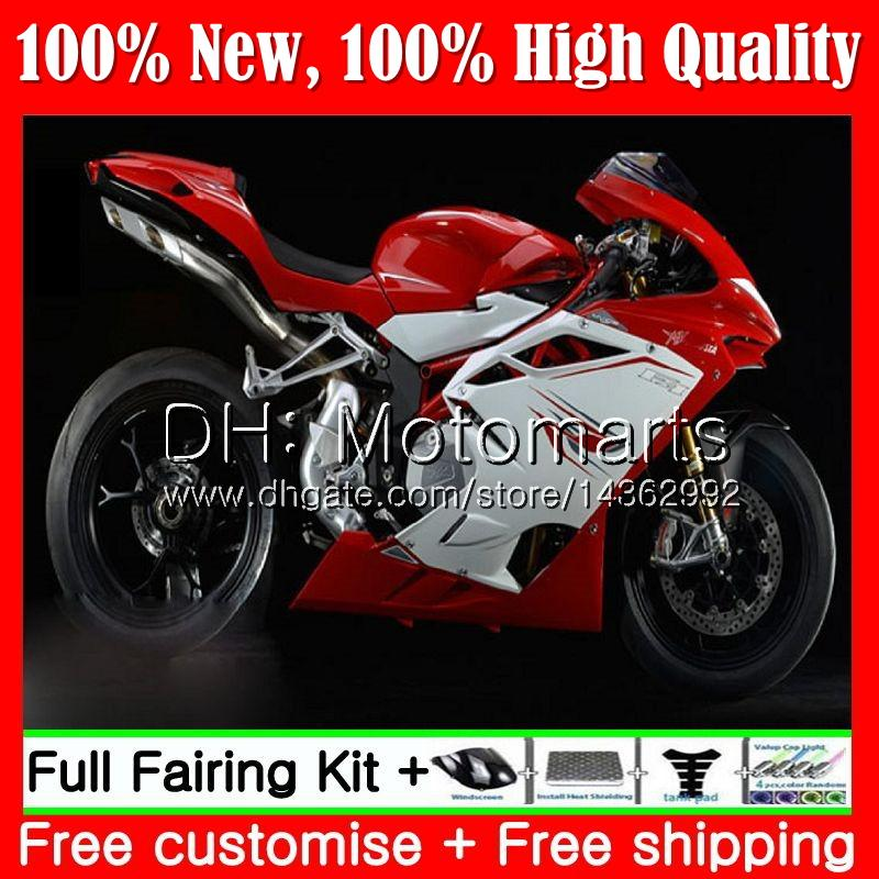 Body For MV Agusta F4 05 06 R312 750S 1000 R 750 1000CC Red white 13MT9 1000R 312 1078 1+1 MA MV F4 2005 2006 05 06 Red Fairing Bodywork