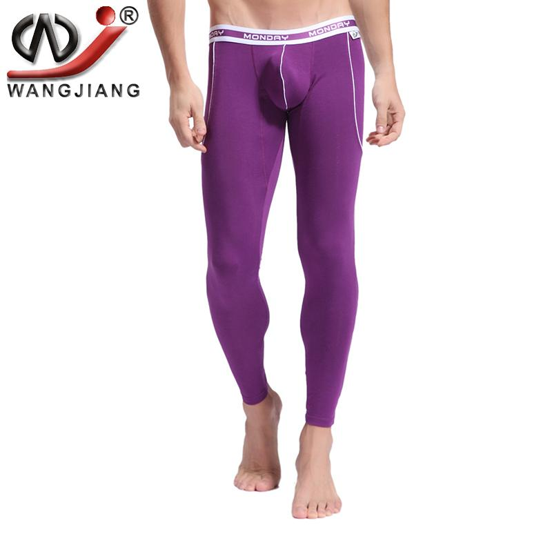 Warm Pants Leggings WJ Brand Men's Long Johns Bamboo Fiber Mens Thermal Underwear Pants Quick Dry Thermo Underwear