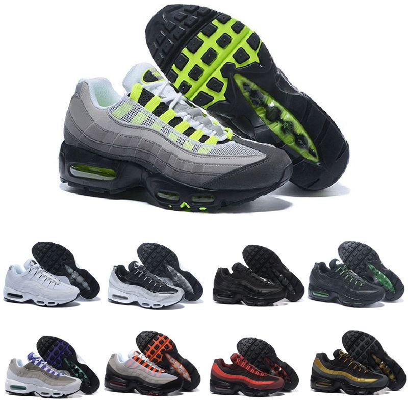 wholesale dealer 341fa 79515 Acquista Nike Air Max 95 2019 Unisex Ultra 20th Anniversary 95 OG Nero  Bianco Rosso Grigio Uomo Donna Sport Sneakers 95s Uomo Trainers Tennis  Donna Che ...
