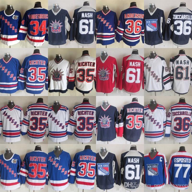 New York Rangers Jersey 36 Mats Zuccarello 61 Rick Nash 77 Phil ... bd2608846