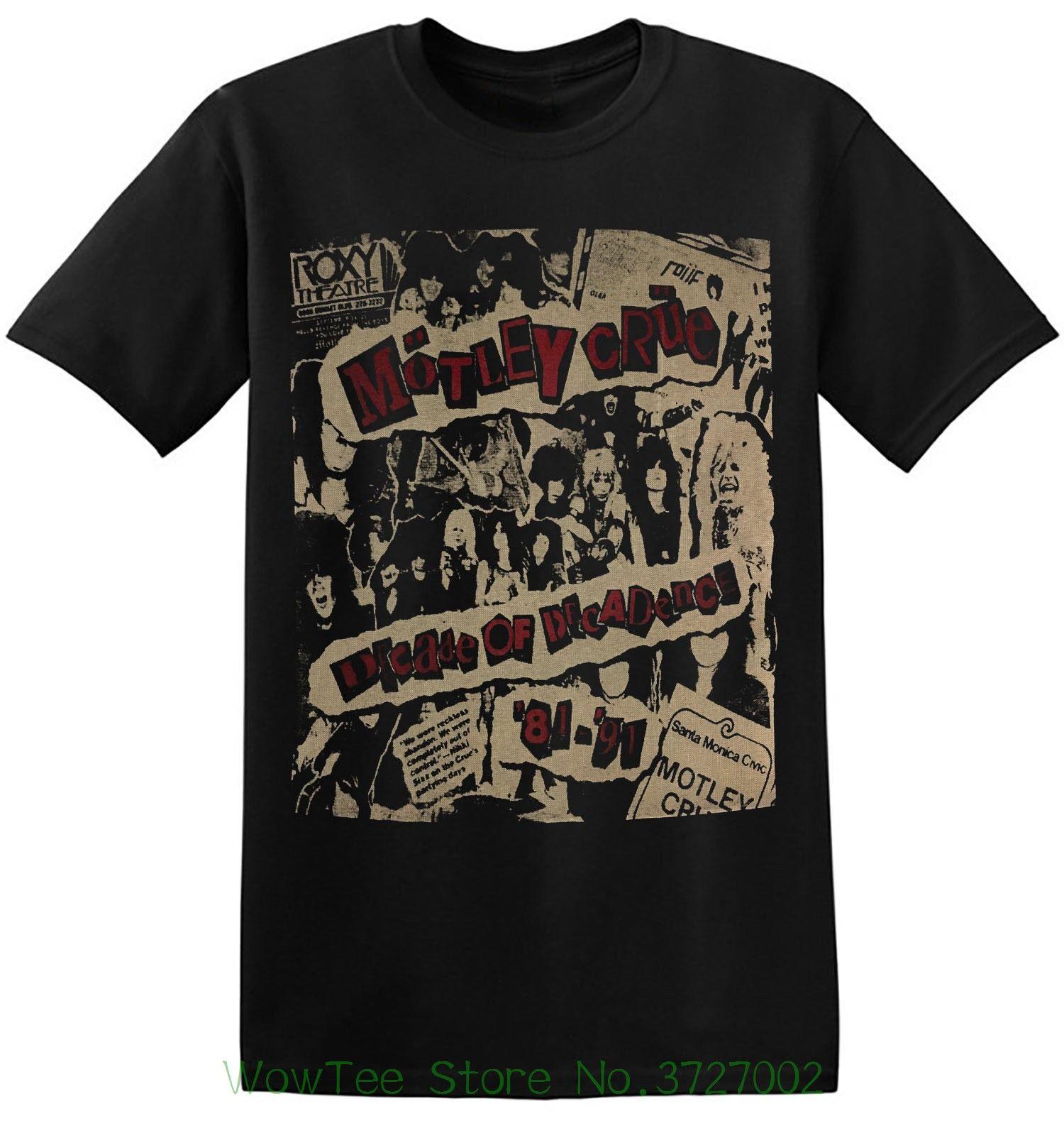 Grosshandel Motley Crue T Shirt Old Band Shirts Schwarz Vintage