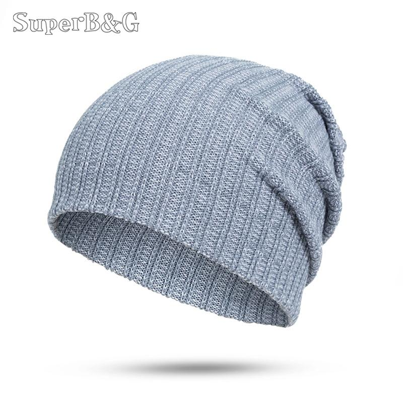 8cabfe80697 2019 SuperB G Fashion Autumn Winter Beanies Hat Women Men Casual Skullies  Beanies Cap Unisex Knitted Cotton Outdoor Hat Bonnet Gorros From Duriang