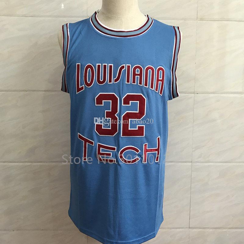 2019 32 Karl Malone Louisiana Tech Bulldogs Blue College Basketball