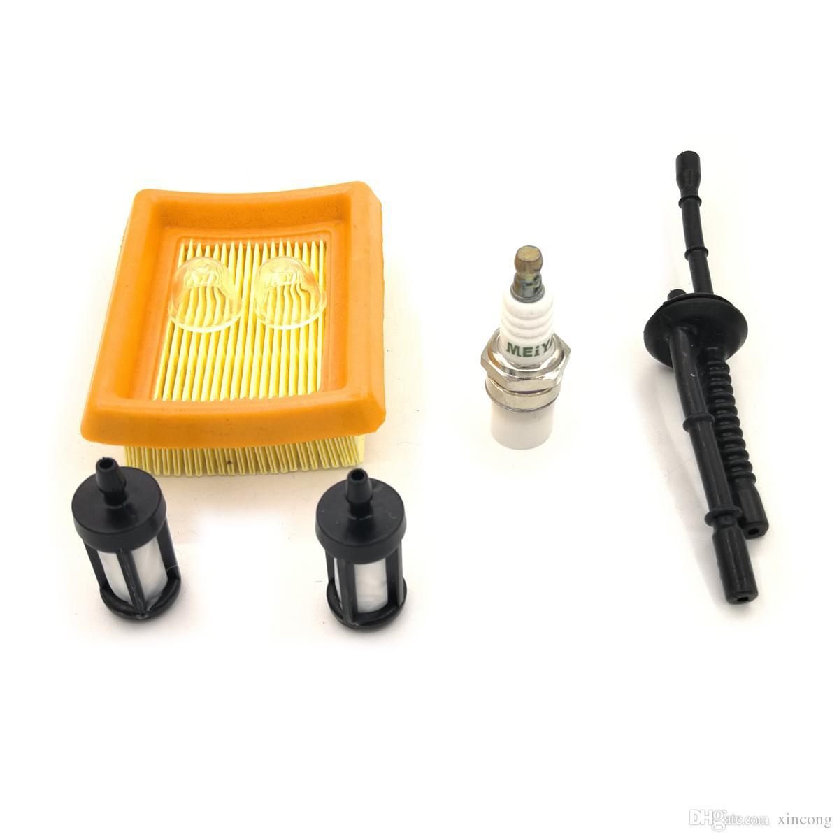 Air Filter Fuel Line Fuel Filter Spark Plug primer bulb for STIHL MM55  MM55C String Trimmer Multi Engine