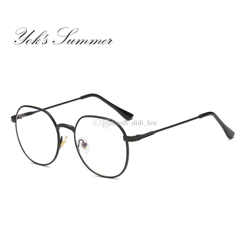 11cbce9ab99 Yok s Summer Anti Blue Ray Computer Gaming Glasses Women Retro Gold Thin  Metal Reading Eyeglasses Frames Men Brand Oculos UL042 Computer Gaming Glasses  Anti ...