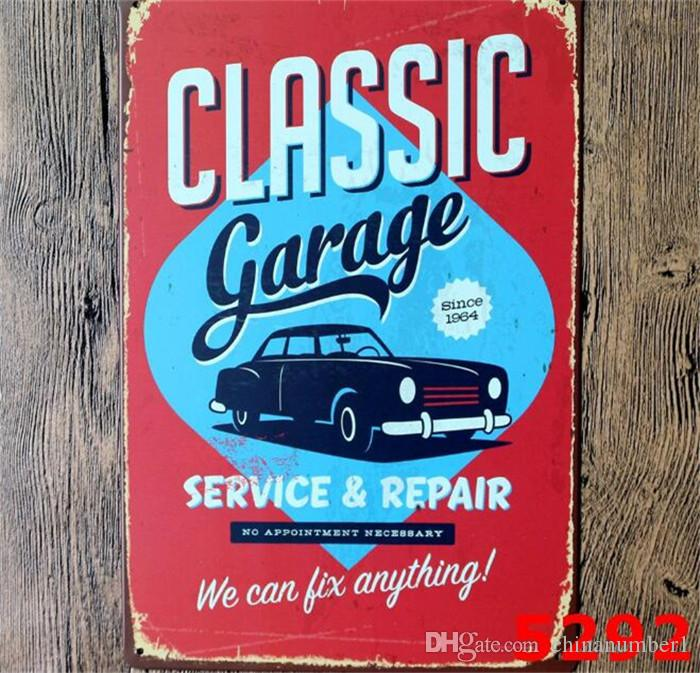 mixed themes beer garage warning Motor Vintage Craft Tin Sign Retro Metal Painting Poster Bar Pub Wall Art Sticker C139