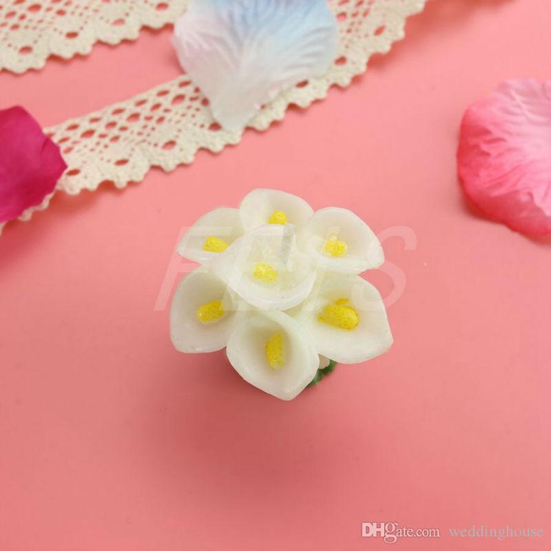 Hotsale FEIS all'ingrosso romantica comune Callalily candela baby shower partito arte favore doni accessorio candela nozze