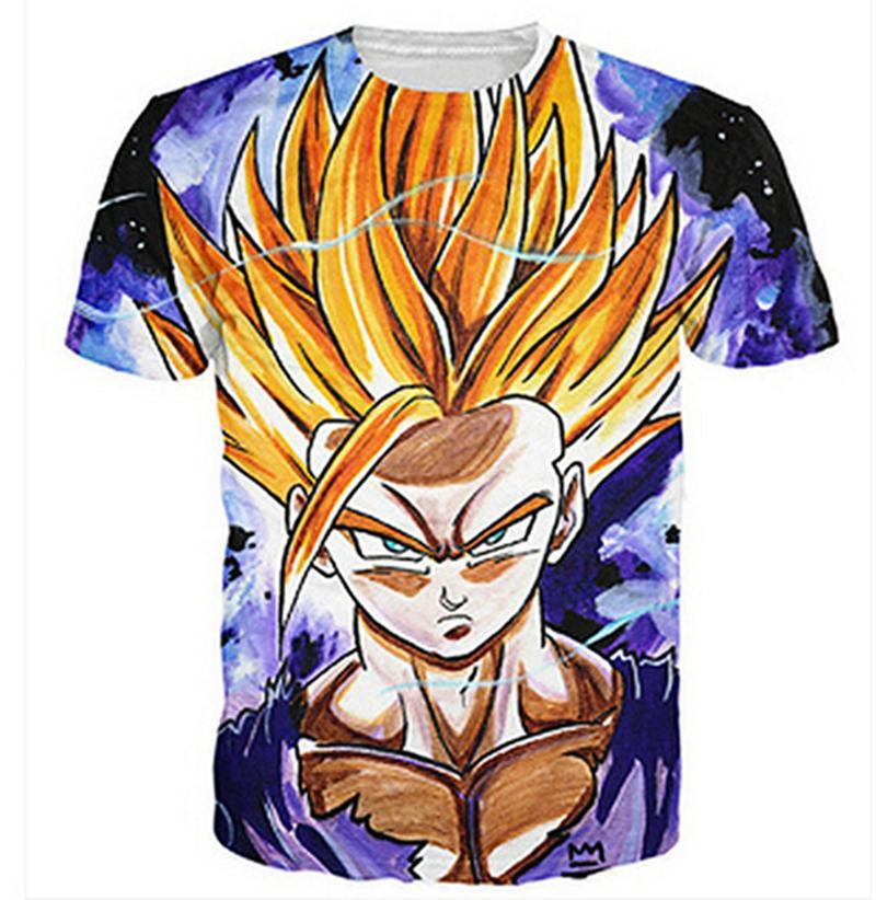 Compre Dragonball Z Goku Camisetas Mens Roupas 3D Impresso Bacon Gato  Galáxia T Shirt Plus Size 6XL O Pescoço Tops Drop Shipping Atacado De  Fjb272211689 95a121df8f1