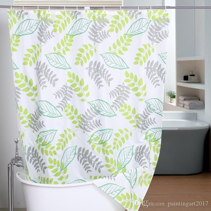 2018 New 100% Polyester Shower Curtain Fabric Eco Friendly Green ...