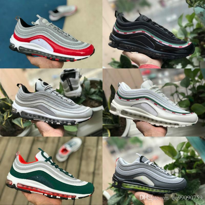low priced 18ccd e3453 Acquista 97 Scarpe 2018 Nuove A Buon Mercato 97s OG X Bullet Calzature  Sportive Nero Bianco Oro Argento Uomo 97 Ultra Sean Wotherspoon Donne  Trainer Off Air ...