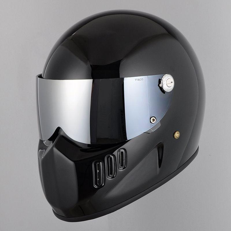 2ba9c22c60a70 Compre TTCO Full Face Casco De Motocicleta Careta Protectora Thompson02  04RT   MJET Cascos Harley Moto Visera Parasol Cristal Plateado Externo A   37.98 Del ...