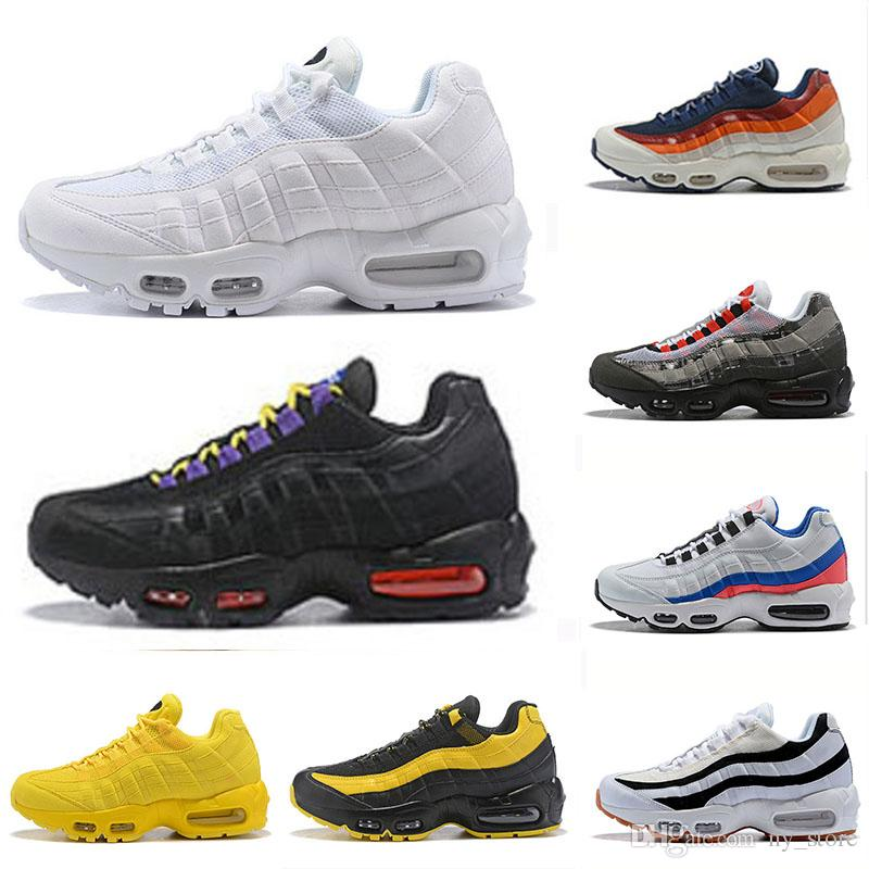 7e3e72cb2c New Arrival Air Red Yellow 95 Mens Womens Running Shoes Classic ...
