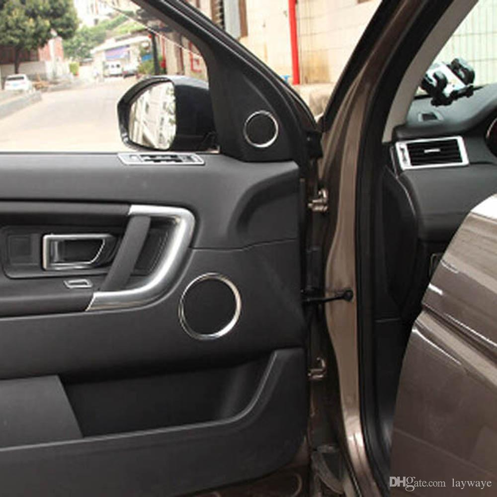 Insid front rear doors speaker horn decorative sticker cover trim for land  rover discovery sport Interior Accessories
