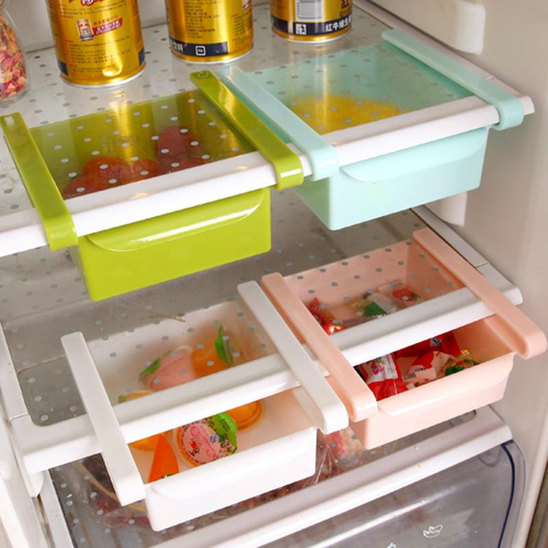 2019 Thick Refrigerator Plastic Drawers Fridge Storage Box Tray For