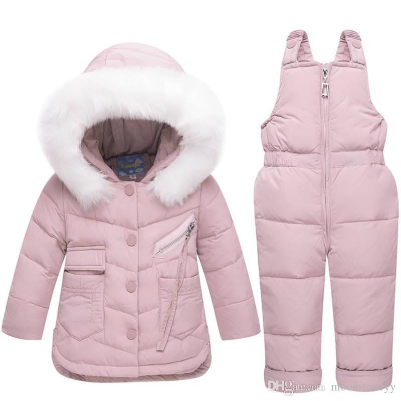 8e9732be3 Winter Children S Clothing Set Baby Girl Winter Jumpsuit Down Jacket ...