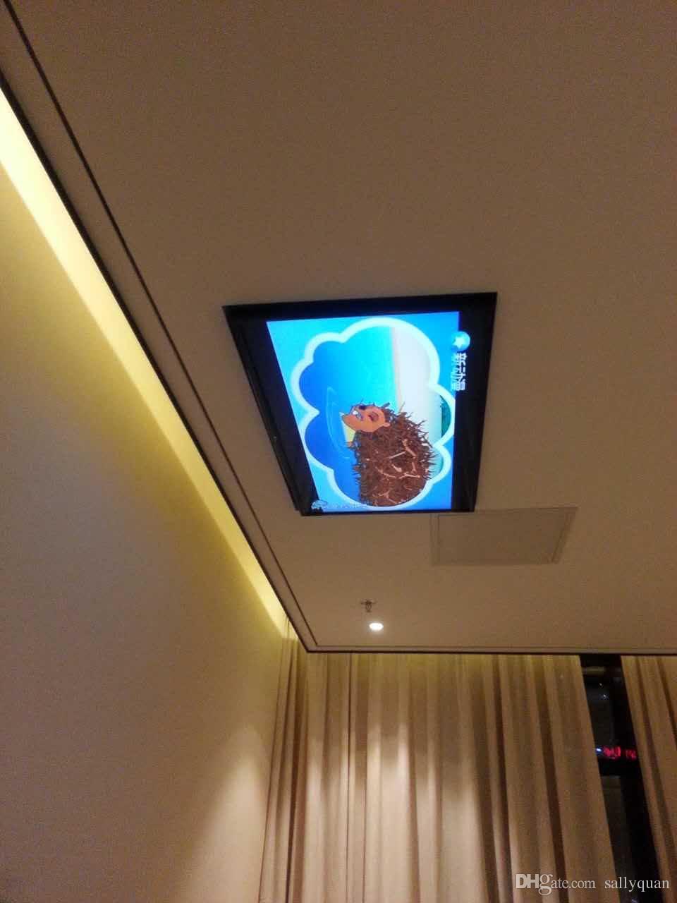 Большой проектный кронштейн потолочный ТВ-лифт для 32-80-дюймового телевизора, кронштейн для крепления телевизора для плазменного телевизора моторизованный 110v-250v для большого проекта