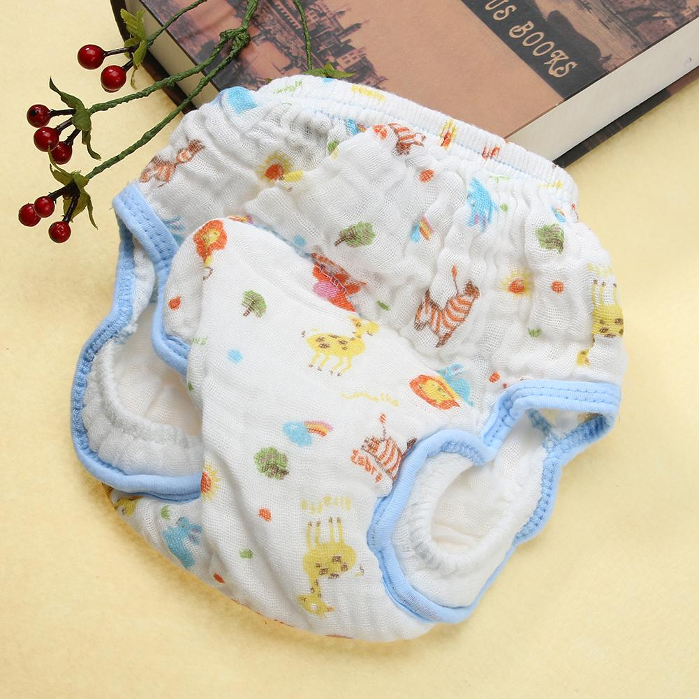 Baby Training Pants Cotton Reusable Baby Diapers Waterproof Cloth Nappies Washable Diapers Gauze Anti-side Leakage Learning Pant