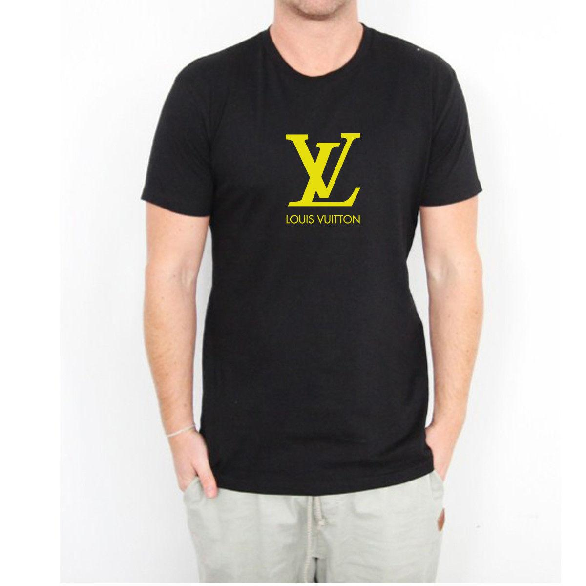 d6b1ca5eb Compre Logotipo De Luis Vonsi Amarillo Famosa Marca De Moda Hombre Negro  Camiseta Talla S M L XL Luis Volición Camiseta De Moda Unisex Casual Hombre  ...