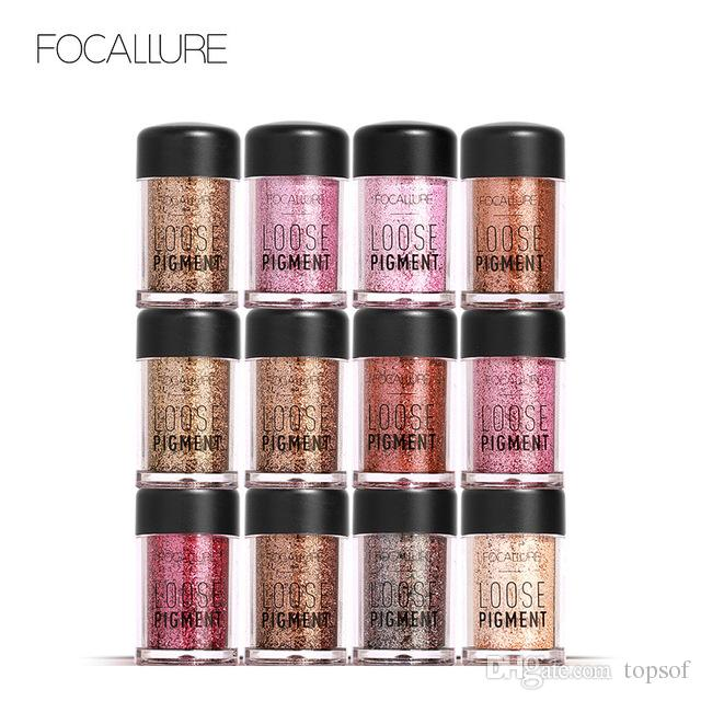 Focallure 18 Colors Glitter Eye Shadow Cosmetic Woman Chameleon Colors Makeup Diamond Loose Eyes Pigment Powder