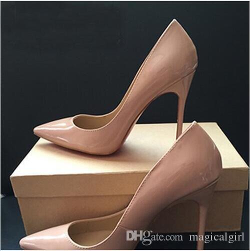 cc0e7184ba24 Bond Fide 2018 Genuine Patent Leather White Leopard Women Wedding Shoes  Ultra Thin Red Bottom High Heels Pumps Size 34 44. Cheap Shoes For Men  Italian Shoes ...