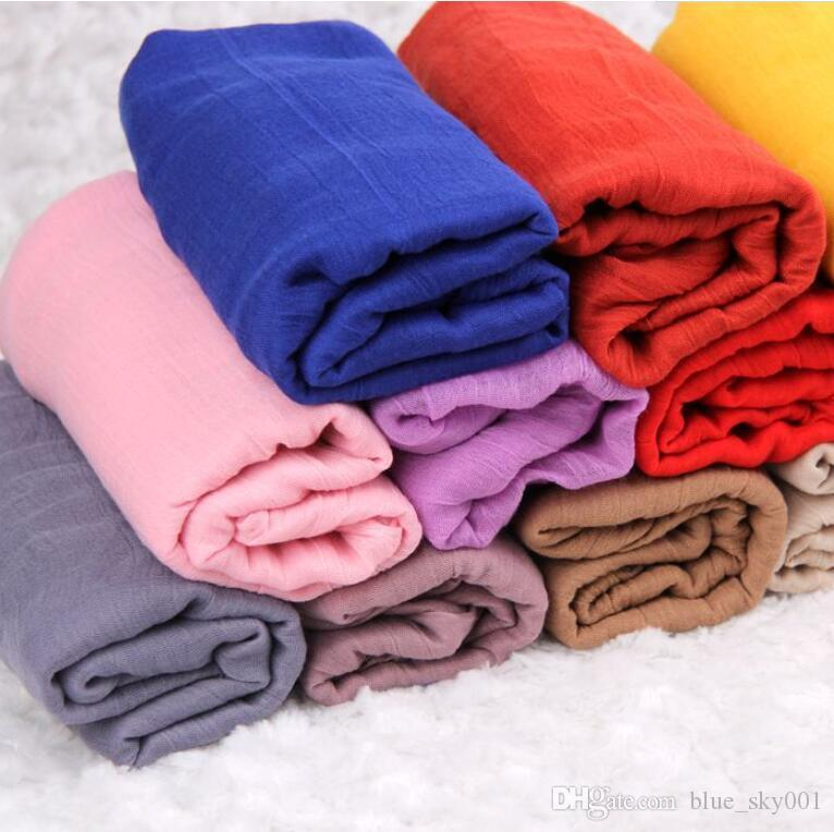 180*145cm Scarf Shawl blanket Ms. winter cotton scarf All-match TR large size solid color scarf and cotton