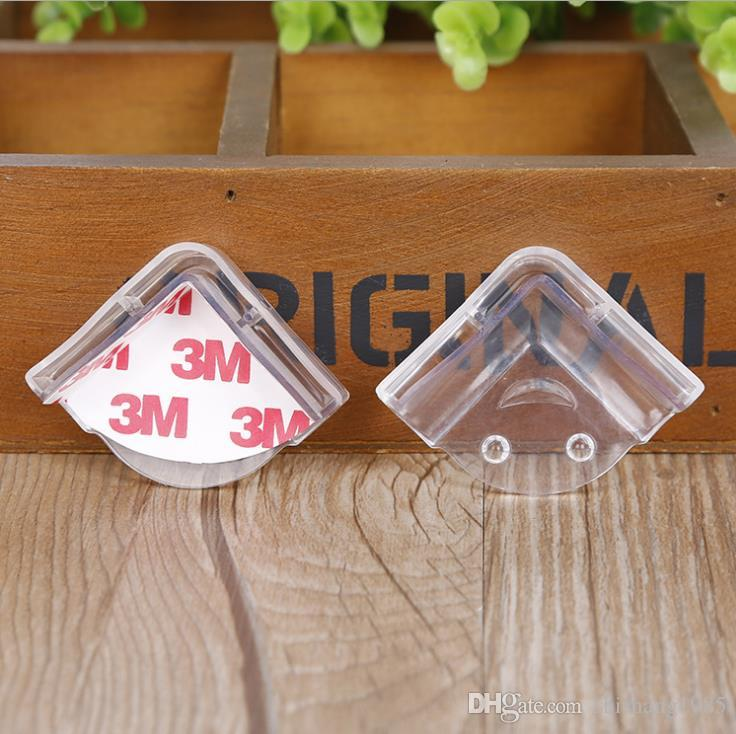 Wholesale-L-type creative transparent smile baby safety corner guard children table corner crash protection cover