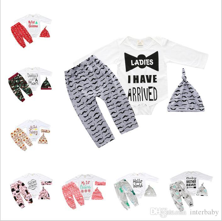 2018 Kids Clothing Letter Printed Baby Clothes Girls Rompers Pants