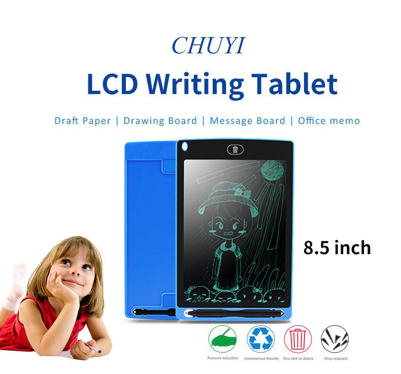 8.5 inch LCD Writing Board Drawing Tablet Paperless Digital Notepad Rewritten Pad for Draw Note Memo Remind Message 8.5""