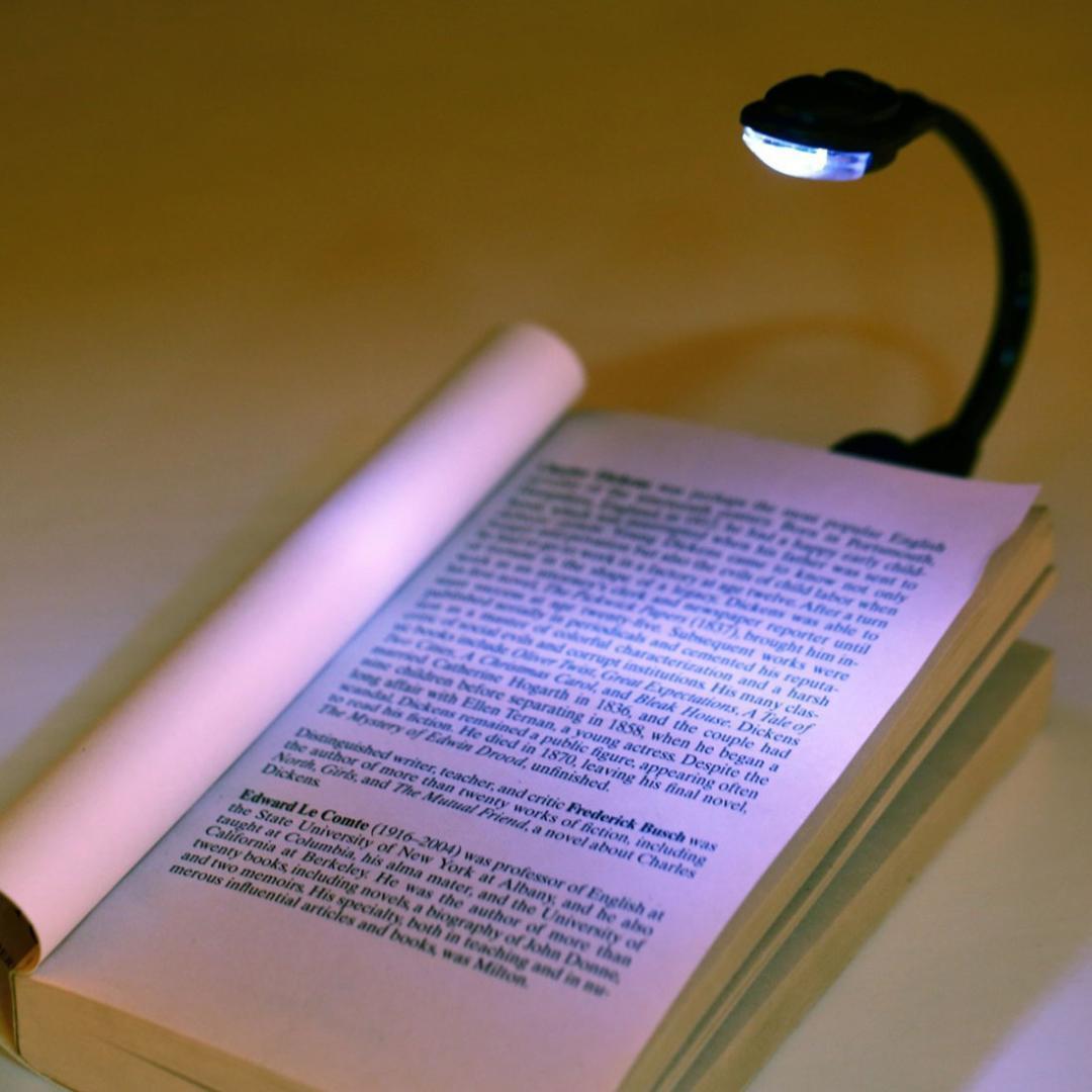 Acheter Clip Reglable Mini Portable Led Lampe De Lecture De Livre