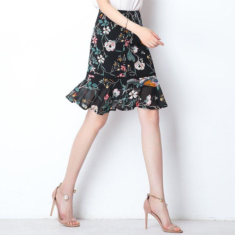 b8c2549aa 2019 AmberHeard 2018 Summer Korean Hot Women Fishtail Skirt Sexy High Waist  Wrap Skirt Medium Long Skirts For Women Clothes Plus Size From Apparelone,  ...