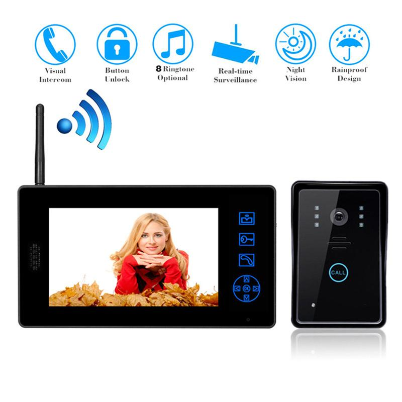 7 Wireless Video Door Phone Doorbell Intercom System Home