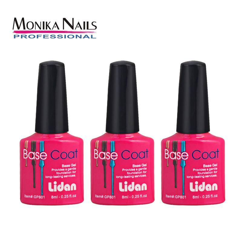 Monika Nail Base Coat With No Wipe Gel Nail Polish UV LED Soak Off ...