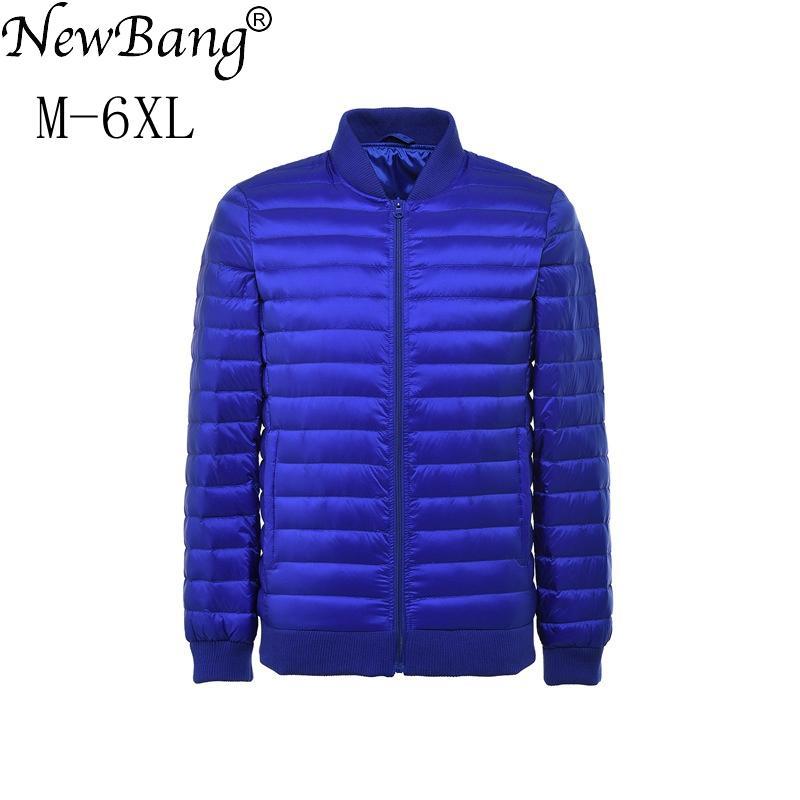 new product e9d20 9abd0 NewBang Plus 6XL 5XL Uomo Piumino Ultra Light Down Jacket Uomo Giacca a  vento Piuma Parka Uomo Inverno Large Size Outwear